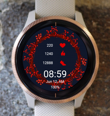 Garmin Watch Face - Red Ring