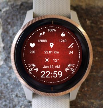 Garmin Watch Face - Red Zone