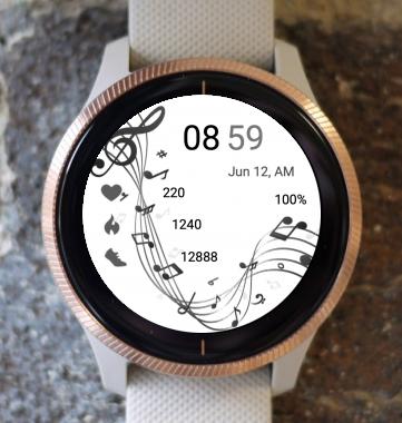 Garmin Watch Face - Music