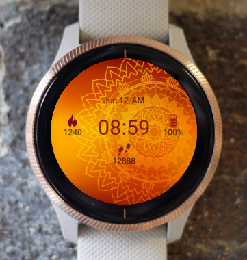 Garmin Watch Face - In Orange
