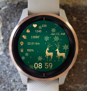 Garmin Watch Face - Christmas Deer