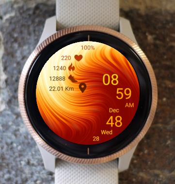 Garmin Watch Face - Orange Wave
