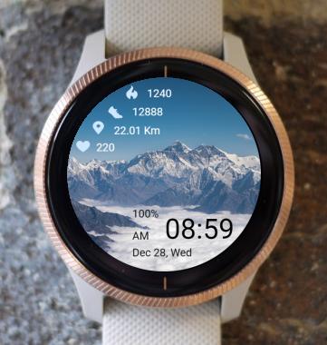 Garmin Watch Face - Mountain 05