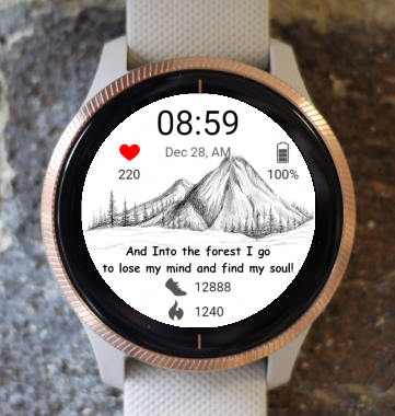 Garmin Watch Face - Mountain