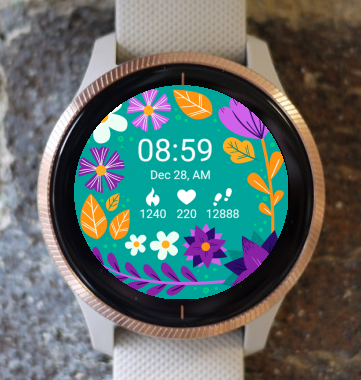 Garmin Watch Face - Mystic Flower G