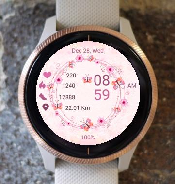 Garmin Watch Face - Spring Circle